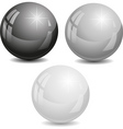 set of color pearl vector image vector image