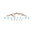 simple abstract mountains and roots vector image vector image
