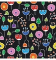 Simple Floral Seamless Pattern vector image vector image