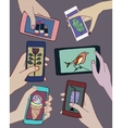 smart-phones and tablets vector image