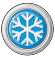 snowflake sign button vector image vector image