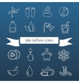 spa outline icons vector image vector image