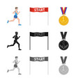 sport and winner logo set vector image vector image