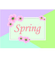 spring background with beautiful pink sakura vector image vector image
