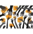 stretching hands vector image vector image