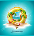 summer holiday with yellow vector image vector image