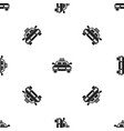 taxi car pattern seamless black vector image vector image