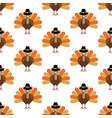 turkey seamless pattern vector image vector image