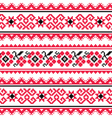 Ukrainian folk art embroidery pattern or print vector image vector image
