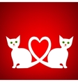 Valentine card with kittens vector image vector image
