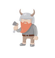 viking isolated vector image