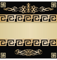 Vintage background with Greece ancient elements vector image vector image