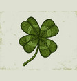 vintage green lucky clover vector image vector image