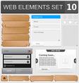 Web elements set 10 vector image vector image