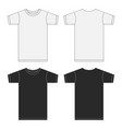 white and black t-shirt template collection eps10 vector image