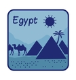 with pyramids in Egypt vector image