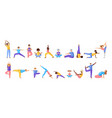 yoga different people vector image vector image
