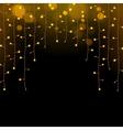 Glowing Christmas Lights Garland vector image