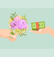abstract design concept for flower delivery vector image vector image