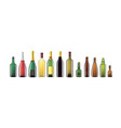 alcohol bottles - realistic set of objects vector image vector image
