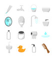 bathroom and toilet icons set vector image