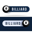 billiard toggle switch buttons with basketball vector image vector image