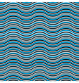 Blue abstract waves seamless pattern vector image
