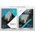 blue black triangle annual report brochure design vector image