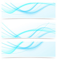 Blue speed swoosh line abstract modern web banner vector image vector image