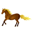 Brown horse isolated vector image vector image