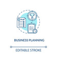business planning turquoise concept icon vector image