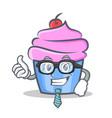 businessman cupcake character cartoon style vector image vector image