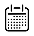 calendar or schedule icon symbol of planning vector image vector image