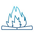 camping bonfire isolated vector image