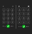 cellphone keypad screen vector image vector image