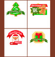christmas sale posters gingerbread cookies vector image vector image