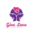 clean charity center logo Hospital vector image vector image