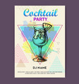 cocktail blue hawaii on watercolor background vector image vector image