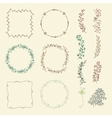 Colorful Hand Sketched Frames Borders Design vector image vector image