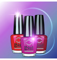 colors nail lacquer bottles vector image