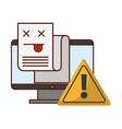 computer warning error page information vector image vector image