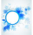 Decorative abstract blue round background vector image vector image