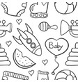 doodle of baby element on white backgrounds vector image vector image