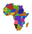 dotted line political map of africa vector image vector image