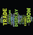 elements of a tradeshow display text background vector image vector image