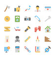 engineering flat icons set vector image vector image