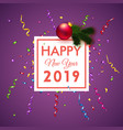 for new year card or poster design vector image