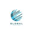 globe world logo design vector image