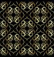 gold damask oriental seamless pattern elegance vector image vector image