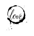 greeting card monochrome inscription love in the vector image vector image